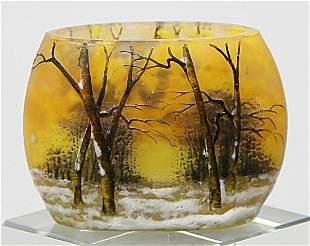 Seltene Miniatur-Vase, Daum Nancy.