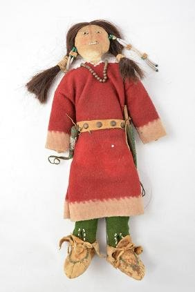 Nice AMERINDIAN DOLL-Child's TOY- 19th Century.