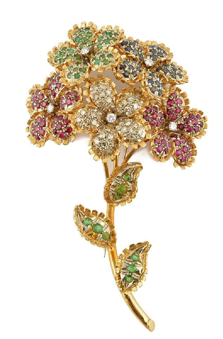 18K GOLD, RUBIES, EMERALDS, SAPPHIRES AND DIAMONDS