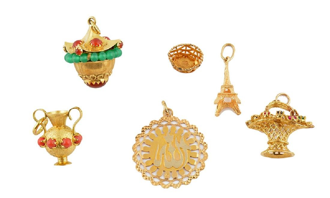 18K GOLD AND STONES