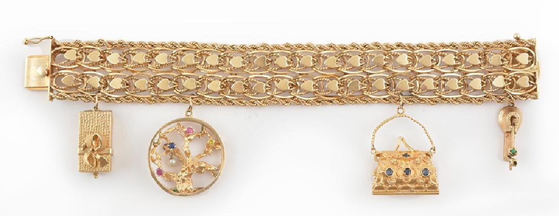 14K GOLD AND STONES