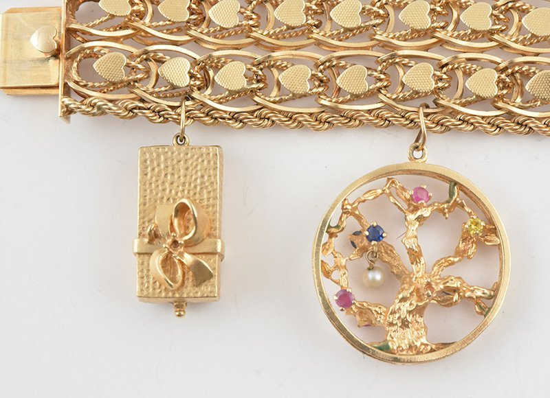 14K GOLD AND STONES - 2