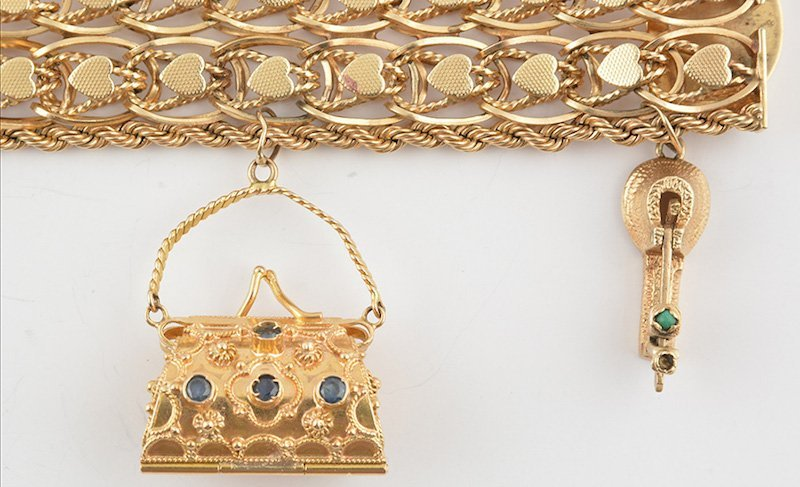 14K GOLD AND STONES - 3