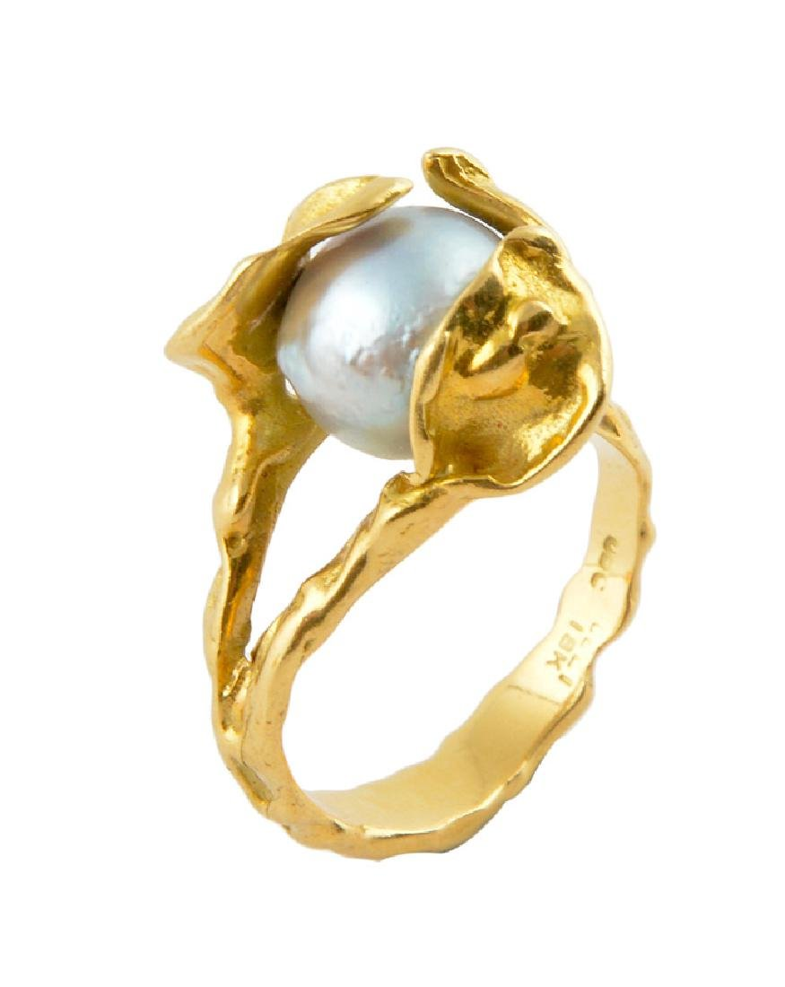 18K GOLD AND PEARL