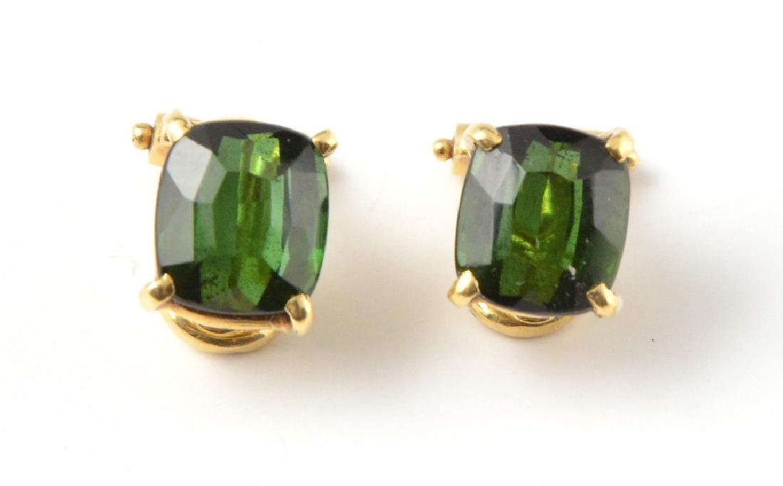 18K GOLD AND TOURMALINES