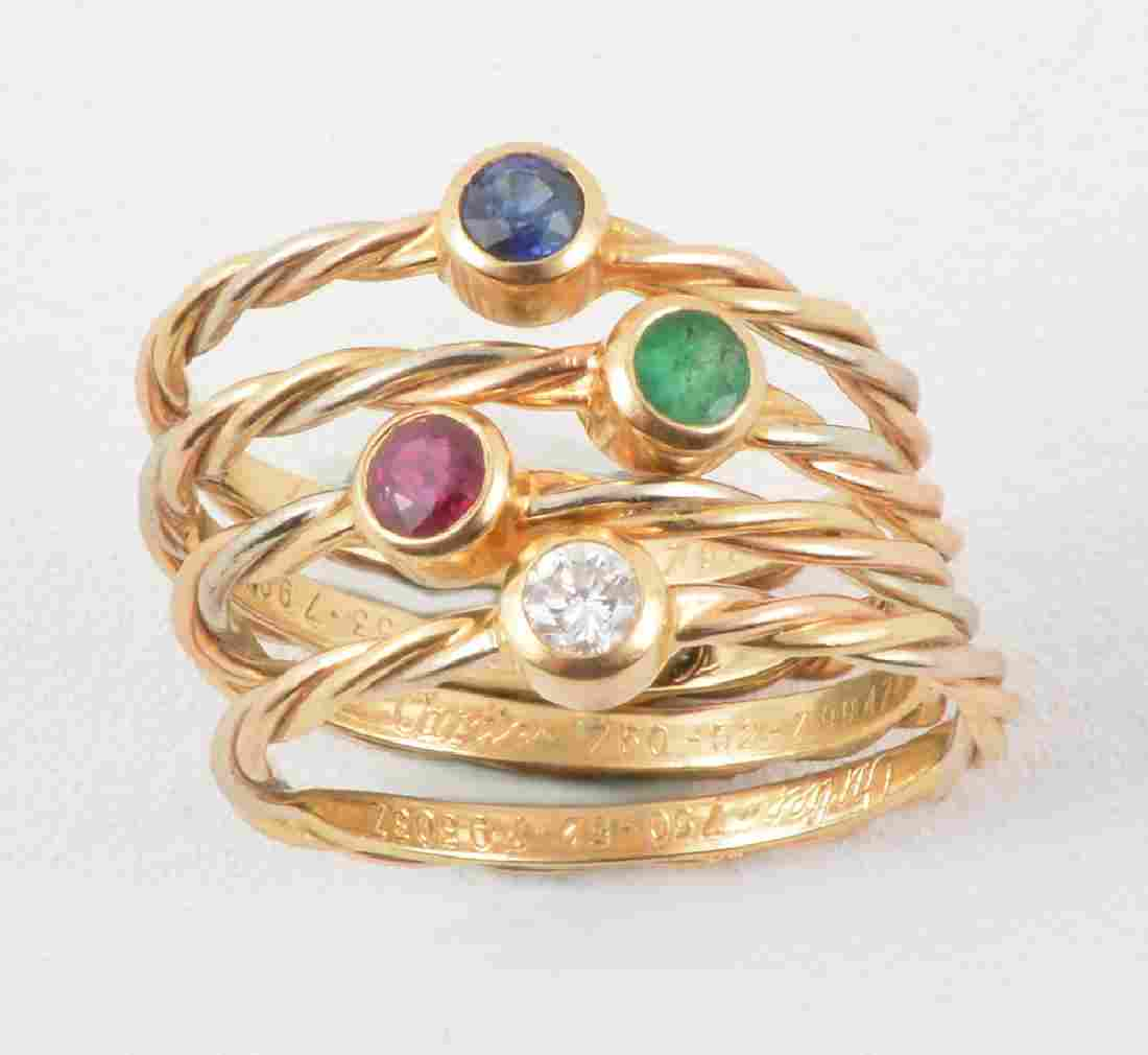 CARTIER – 18K GOLD, DIAMOND, EMERALD, SAPPHIRE AND RUBY