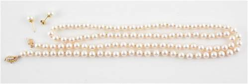 14K GOLD, PEARLS AND DIAMONDS