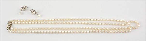 18K GOLD 14K GOLD PEARLS AND DIAMONDS