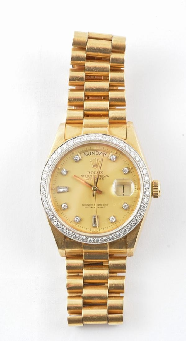 ROLEX OYSTER PERPETUAL DAY,DATE , 18K GOLD