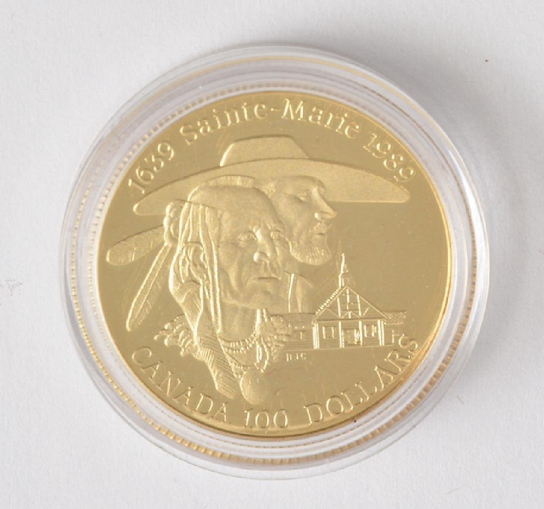 CANADIAN 100$ - 14K GOLD AND SILVER - 1989