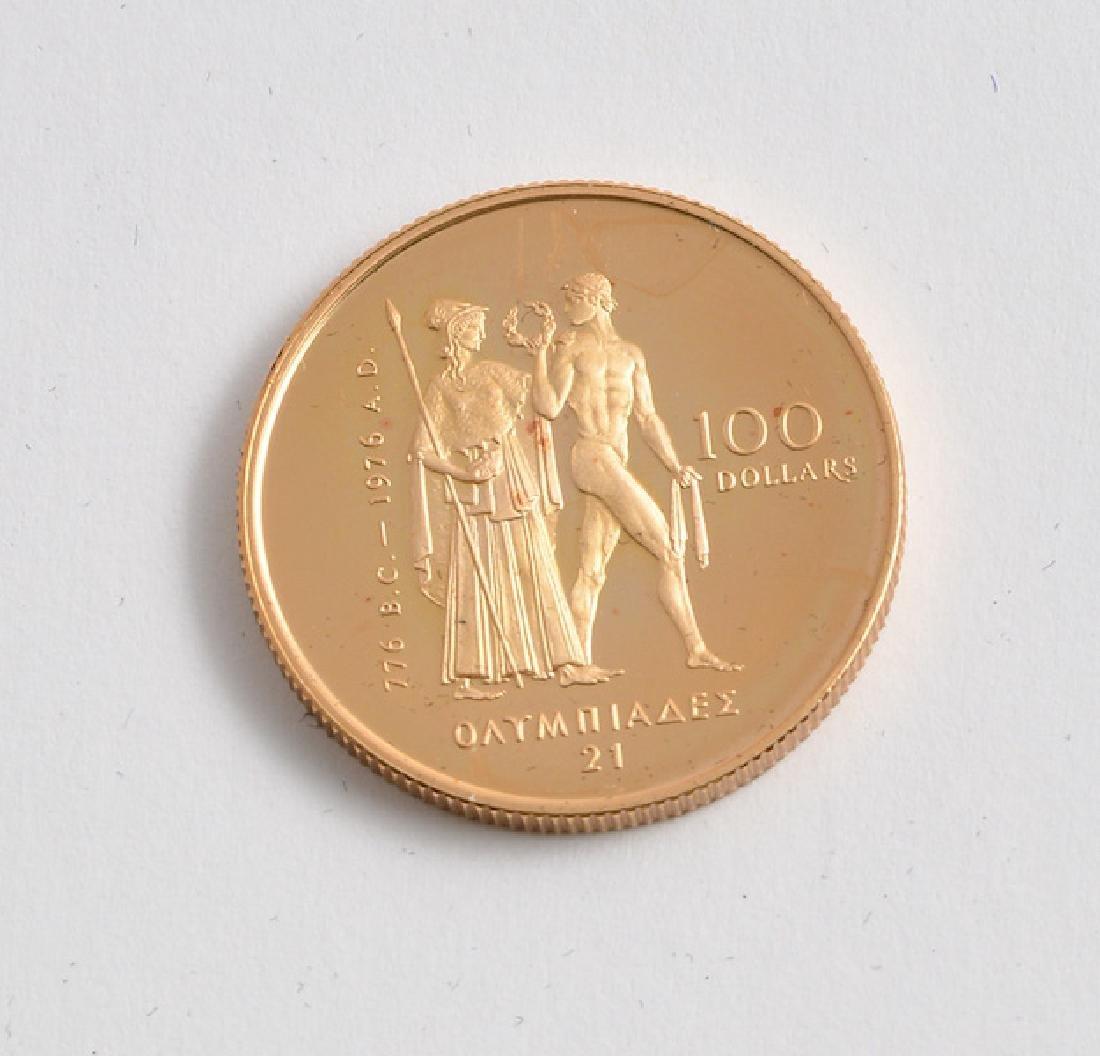 CANADIAN 100$ - 22K GOLD - 1976
