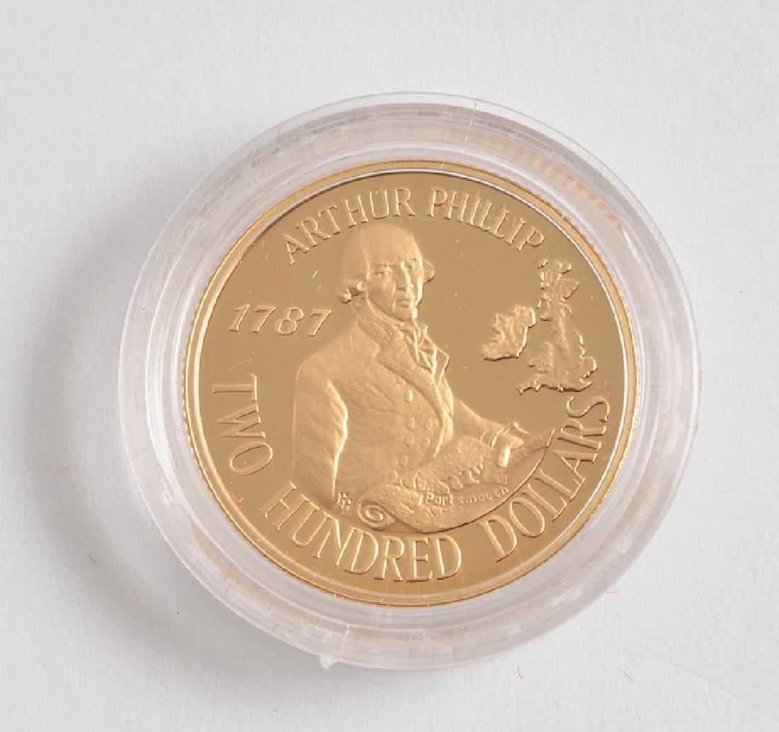 AUSTRALIAN 200$ - 22K GOLD - 1987