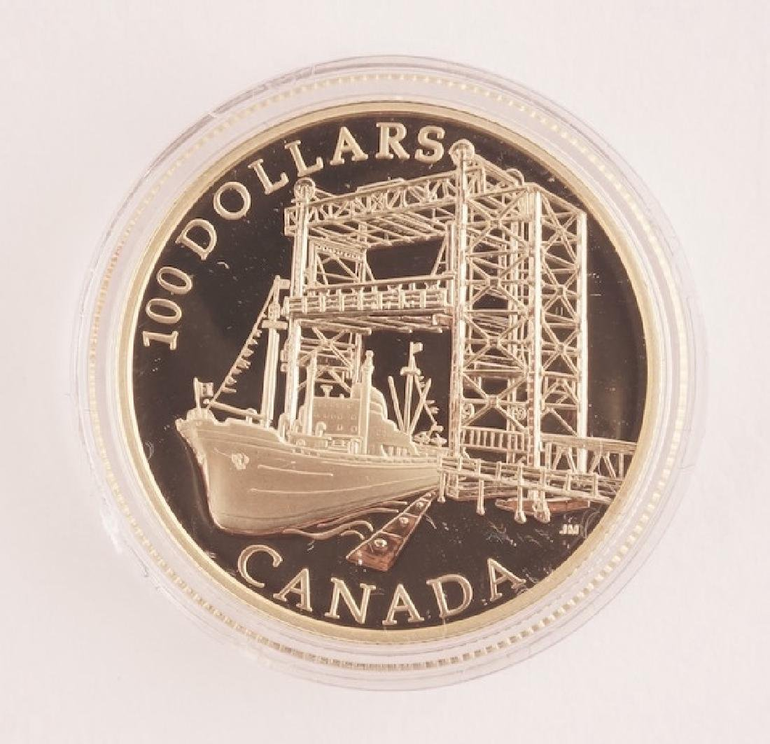 CANADIAN 100$ - 14K GOLD AND SILVER - 2004