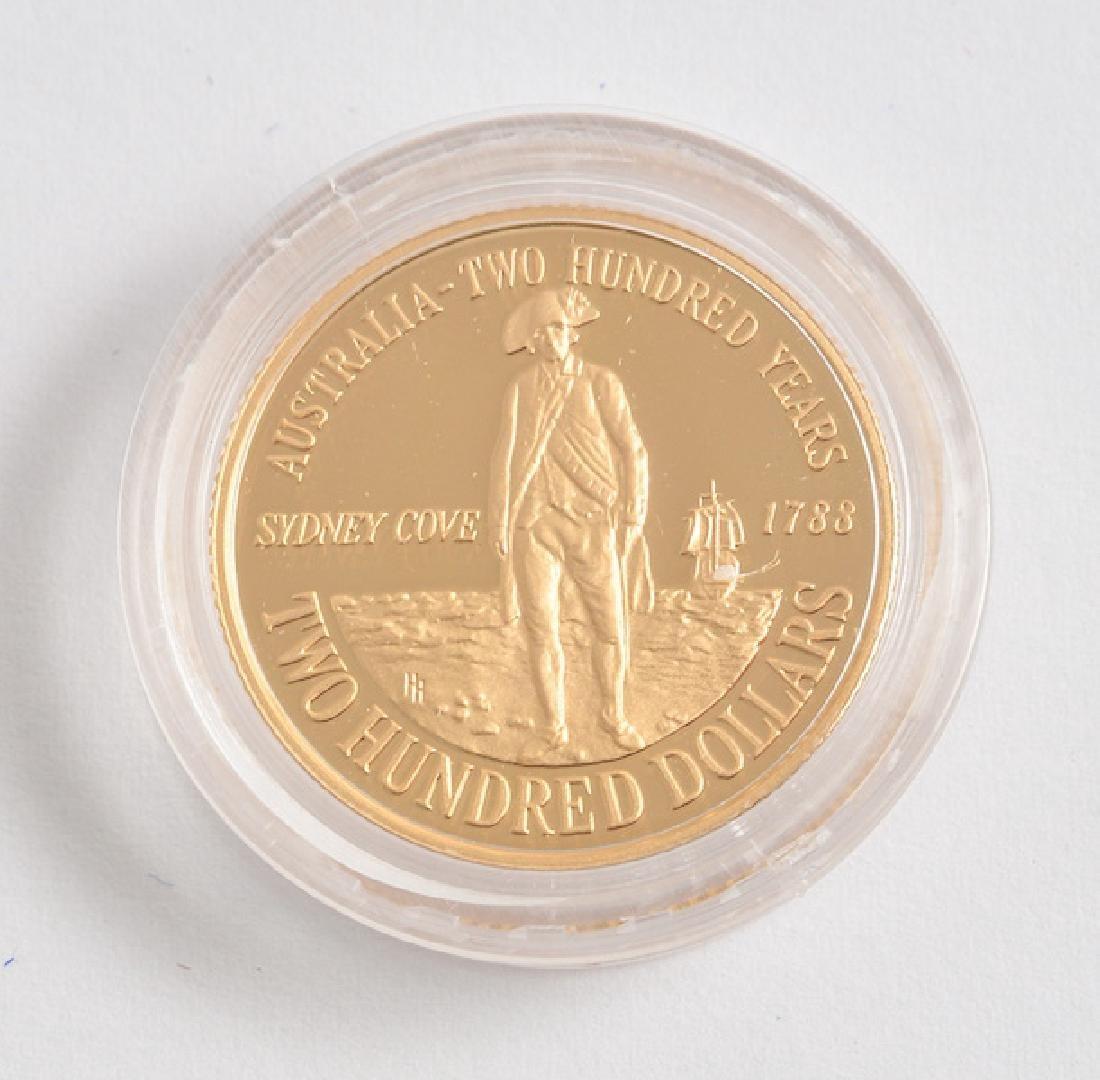 AUSTRALIAN 200$ - 22K GOLD - 1988