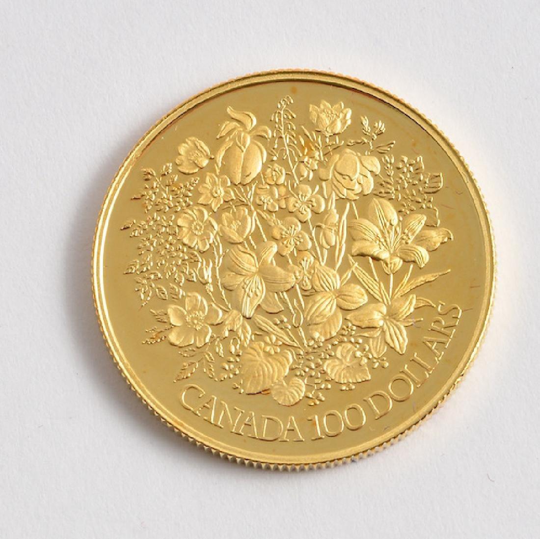 CANADIAN 100$ - 22K GOLD - 1977