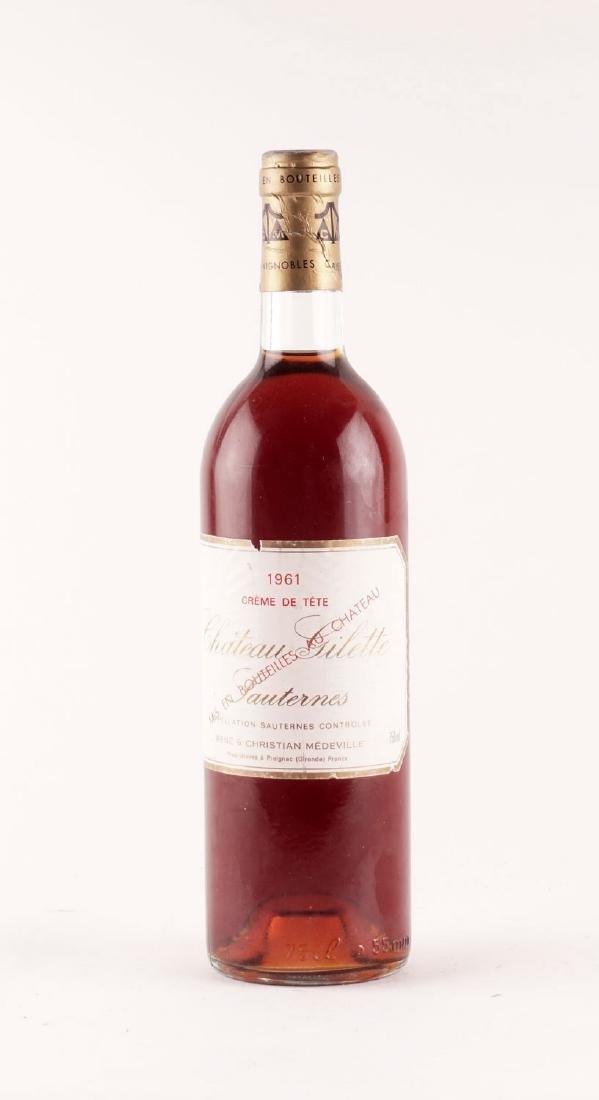 Château Gilette Crème de tête 1961 - 1 bouteille