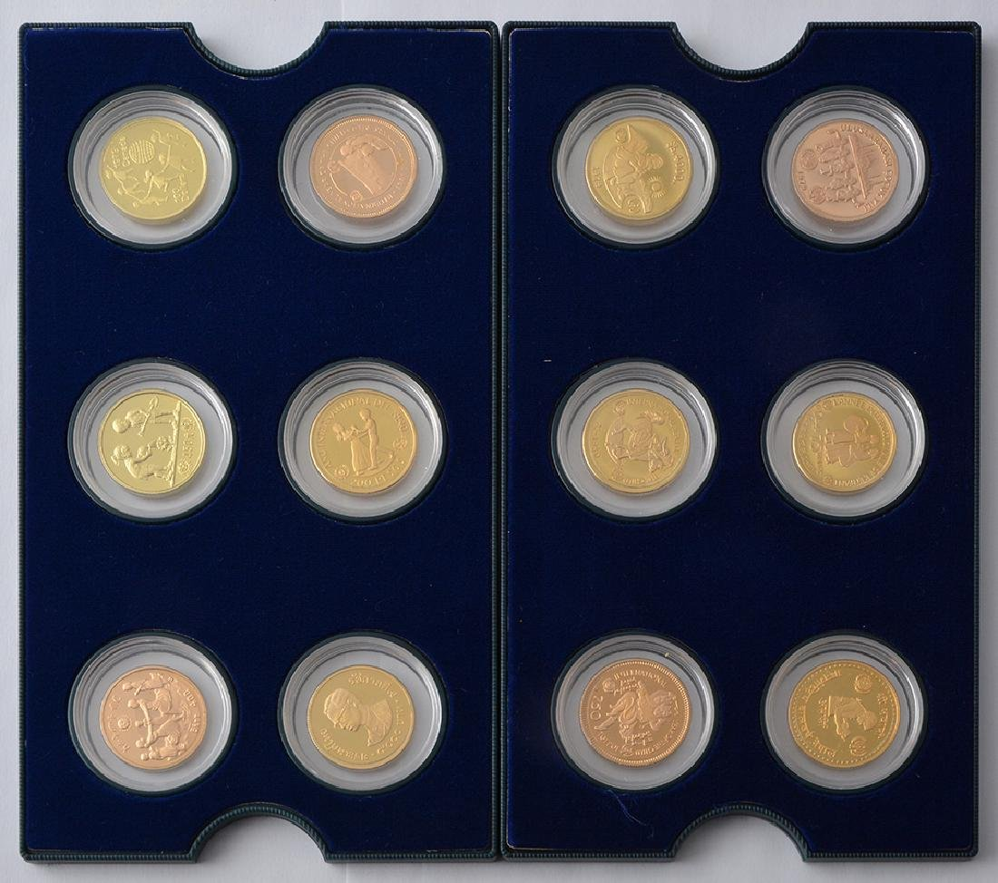 UNICEF COINS COLLECTION - GOLD .900 AND .916