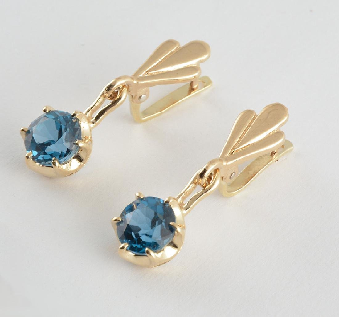 14K AND SPINEL STONES