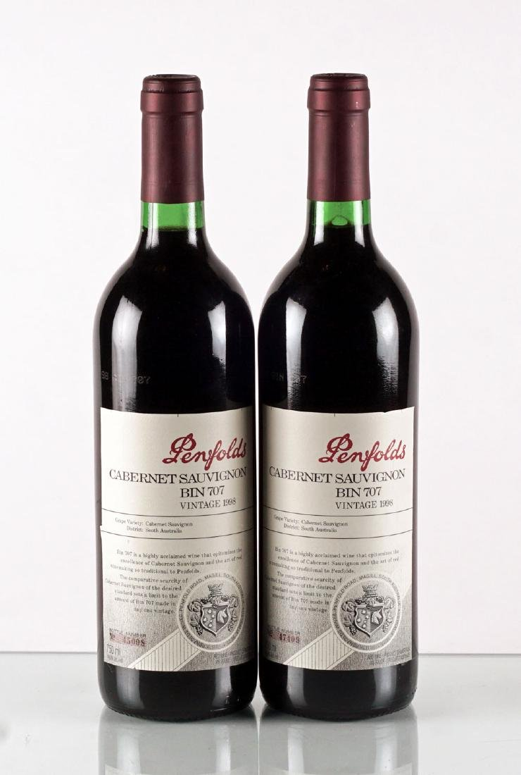Penfolds Bin 707 1998 - 2 bouteilles