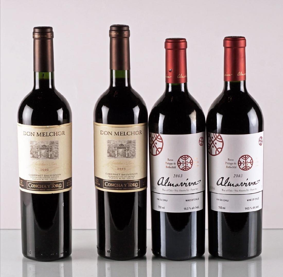 Don Melchor 2002, 2003 & Almaviva 2003 - 4 bouteilles