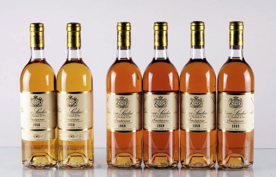 Château Suduiraut 1988 & 1989 - 6 bouteilles