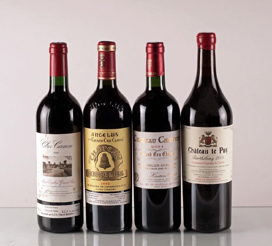 Angélus 2008, Clos Canon 1998, Chauvin 2004 & Le Puy