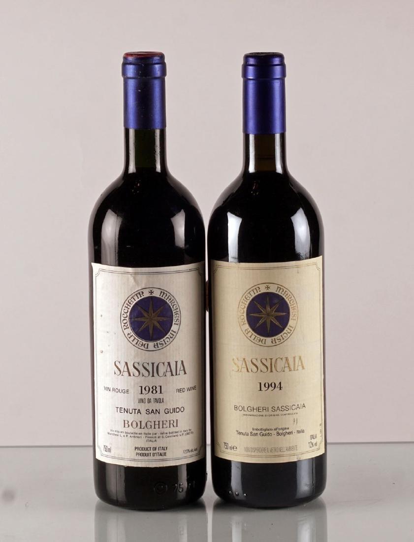 Sassicaia 1981 & 1994 - 2 bouteilles