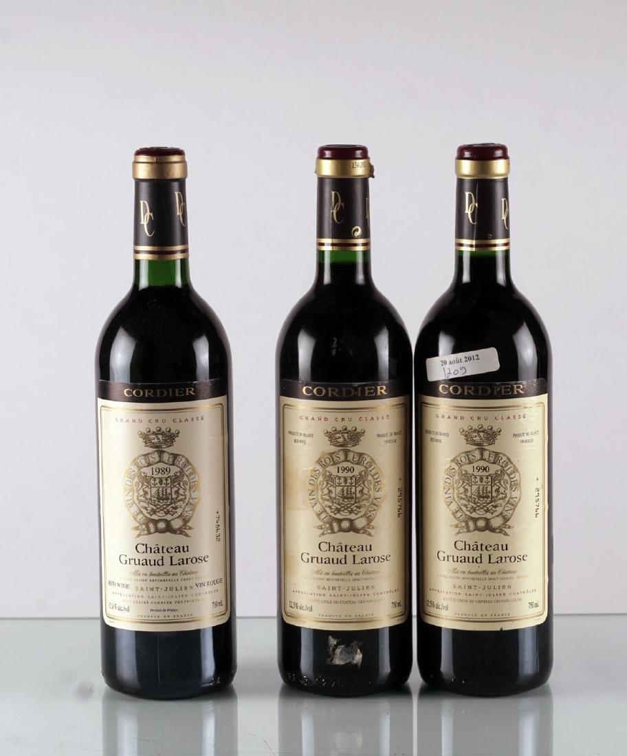 Château Gruaud-Larose 1989 & 1990 - 3 bouteilles