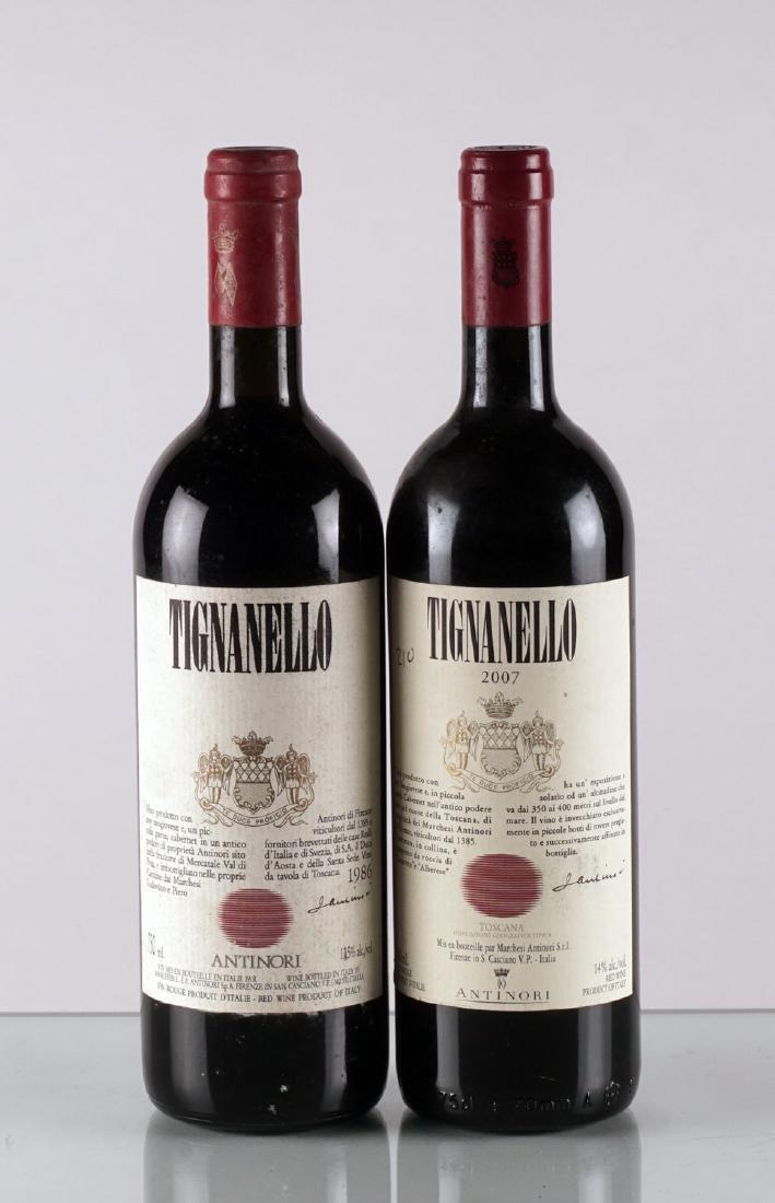Tignanello 1986 & 2007 - 2 bouteilles