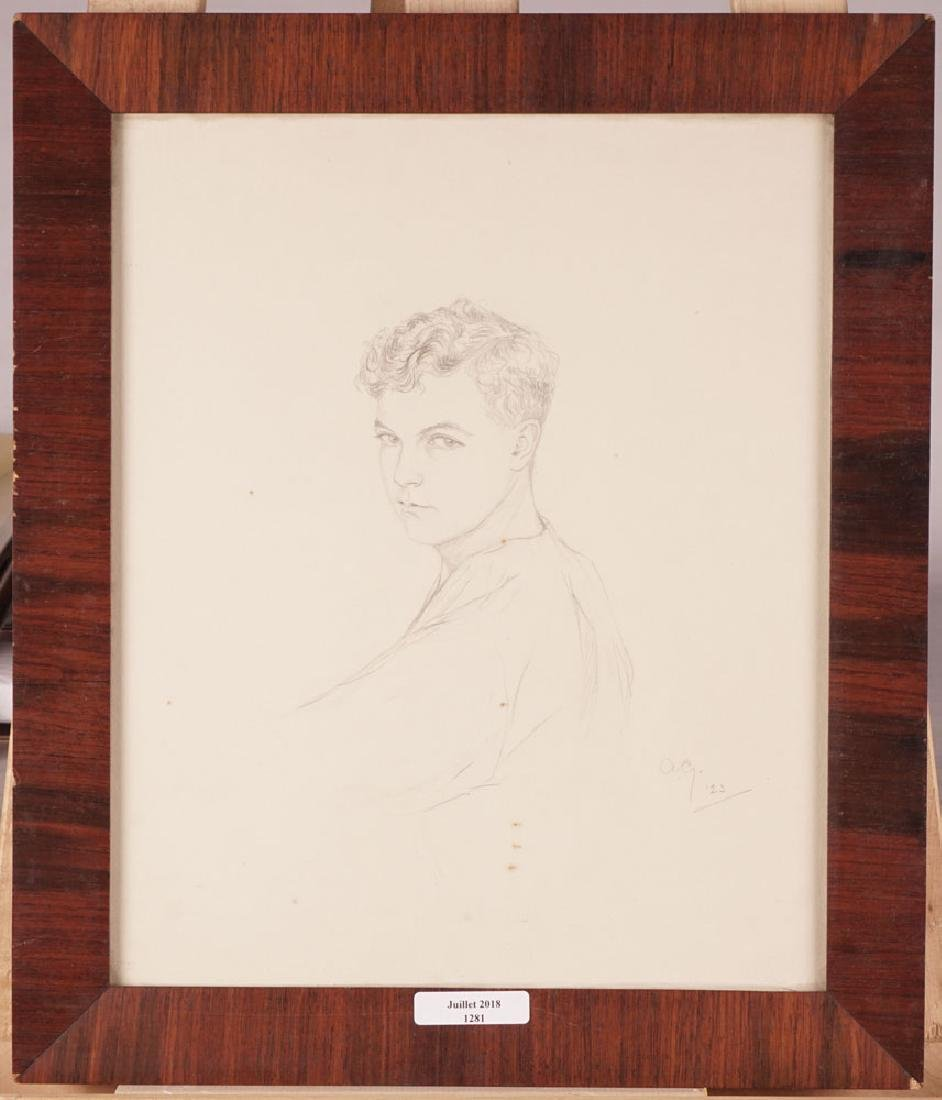 DRAWING, Portrait of a young man