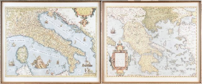 ANTIQUE MAPS - ITALY AND GREECE