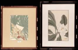 PRINTS  set of two woodcuts