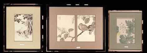 PRINTS - set of three woodcuts