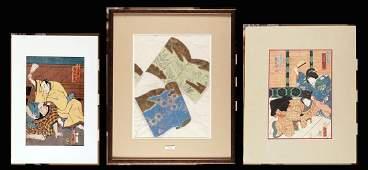 PRINTS  set of three woodcuts