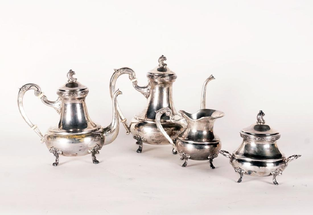 TEA SERVICE - SILVER PLATED METAL