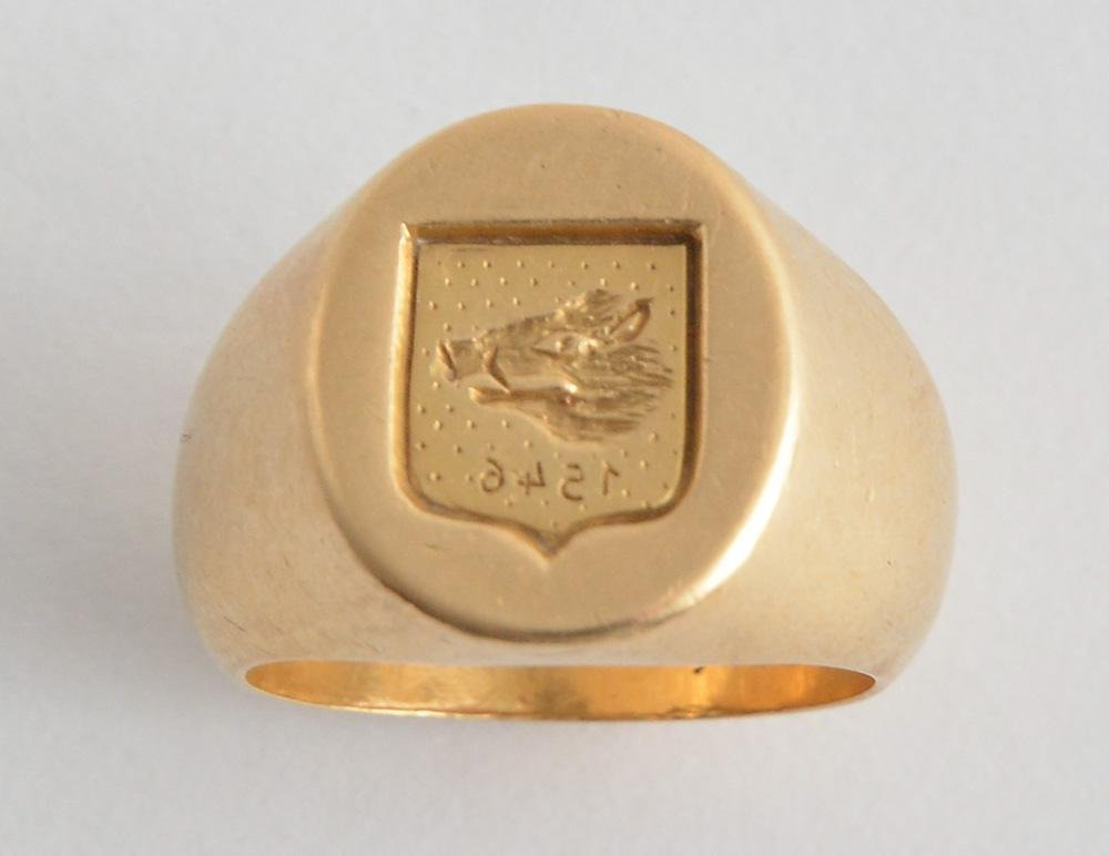 CHEVALIÈRE OR 18K / 18K GOLD SIGNET RING