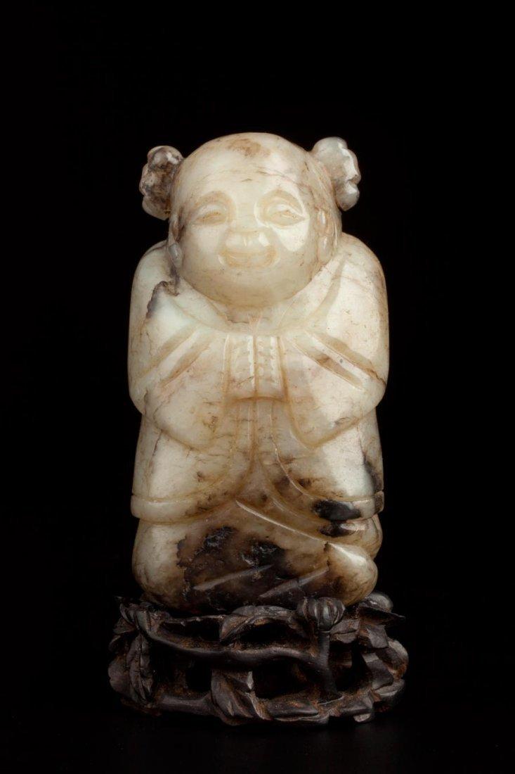 ANTIQUE JADE CARVING OF BUDDHA - WESTMOUNT