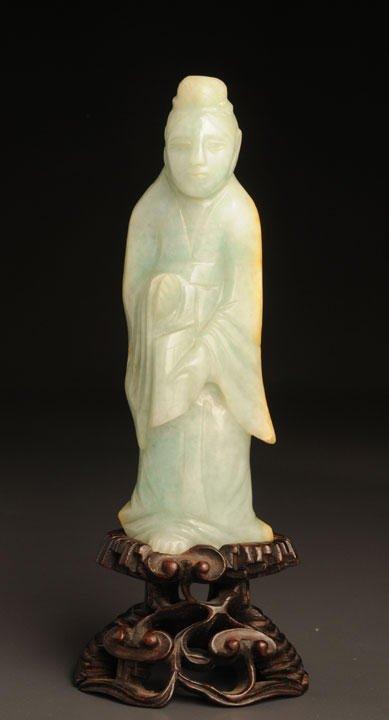 7: ANTIQUE JADE JADEITE GUAN YIN CHINA Antique sculptur