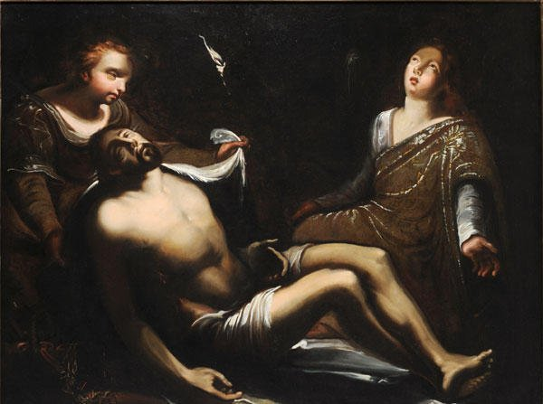20: ITALIAN SCHOOL (17th c.) The deposition from the Cr