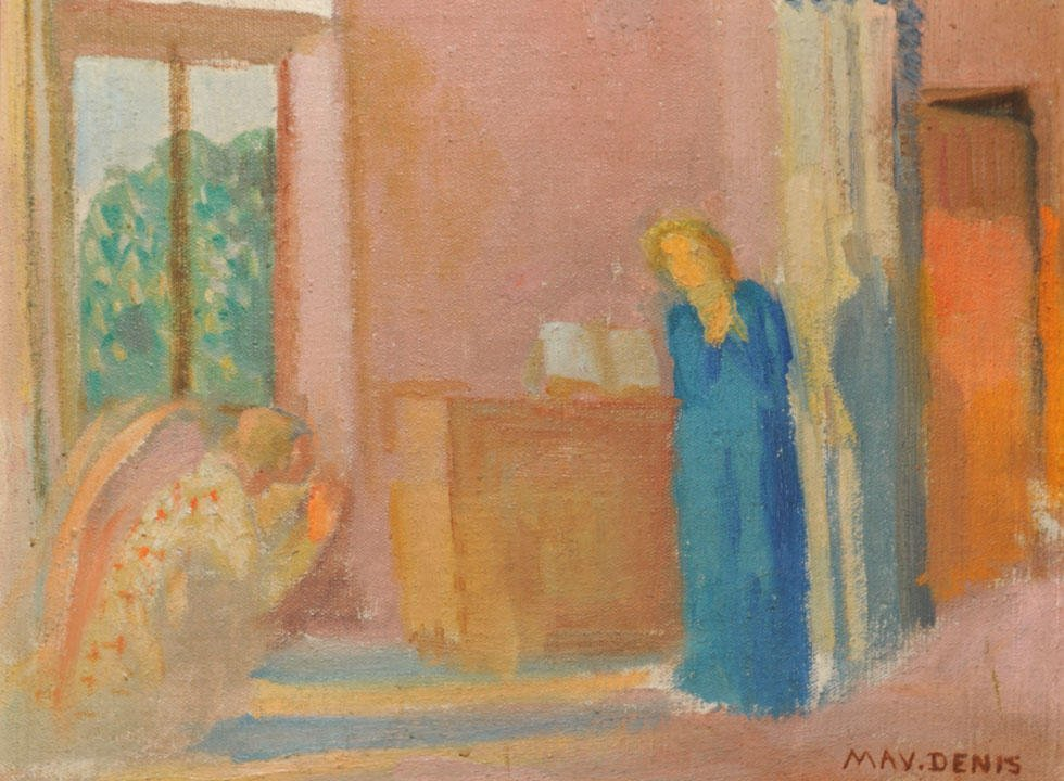22: DENIS, Maurice (1870-1943) The Annonciation Oil on