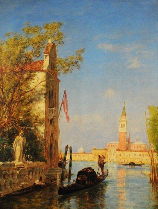"""23: ZIEM, Félix (1821-1911) """"Venise sous le soleil"""" Oil"""