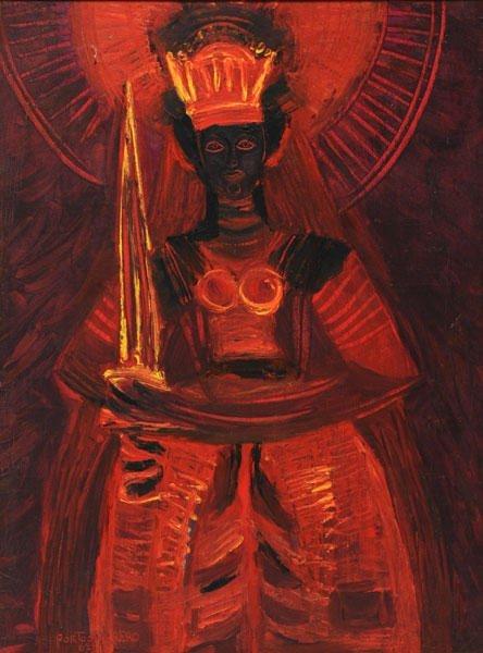 67: PORTOCARRERO, René (1912-1986) Santa Barbara Oil on