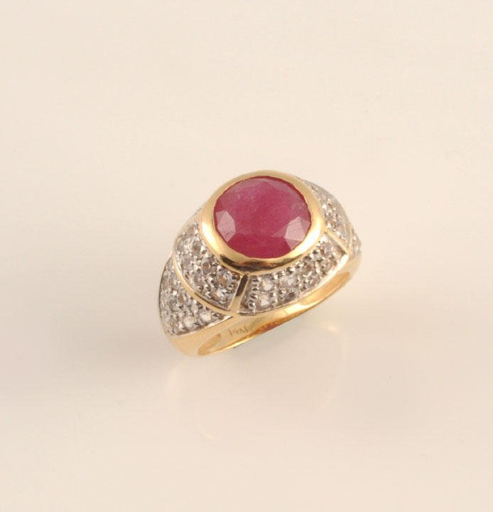 1953: 14K GOLD AND PINK SAPPHIRE