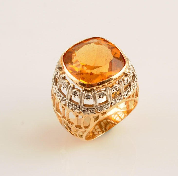 1967: 14K GOLD AND CITRINE