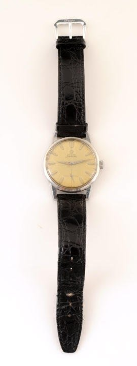 2: SEAMASTER  Steel man watch, yellow face with applied