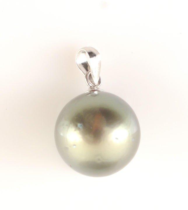 6: TAHITI PEARLS  Tahiti pearl Pendent, 12mm.