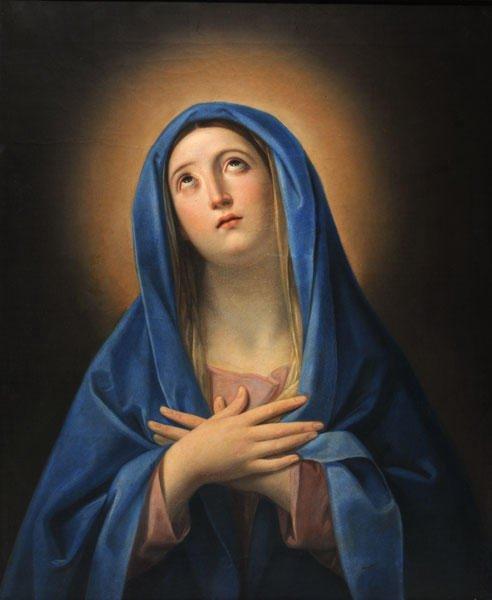 10: ITALIAN SCHOOL 19th CENTURY  Madonna  Oil on canvas