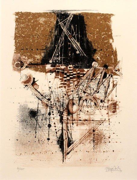 15: FRIEDLANDER, Johnny (1912-1992)  Cacophony  Lithogr