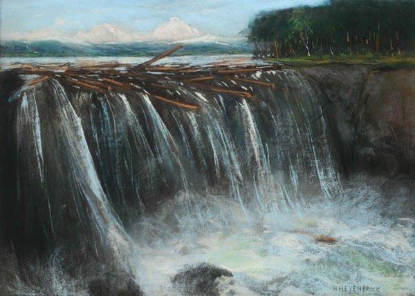 16: HEIJENBROCK, Herman (1871-1948)  Waterfall  Pastel