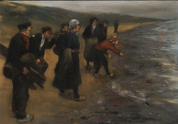 17: HEIJENBROCK, Herman (1871-1948)  Fishing  Pastel on